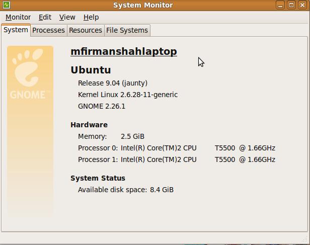 Memory 2.5 GB